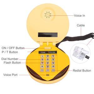 Image 3 - Novelty Emulational Hamburger Telephone Wire Landline Phone Home Decoration Telephones landline phone Brand New