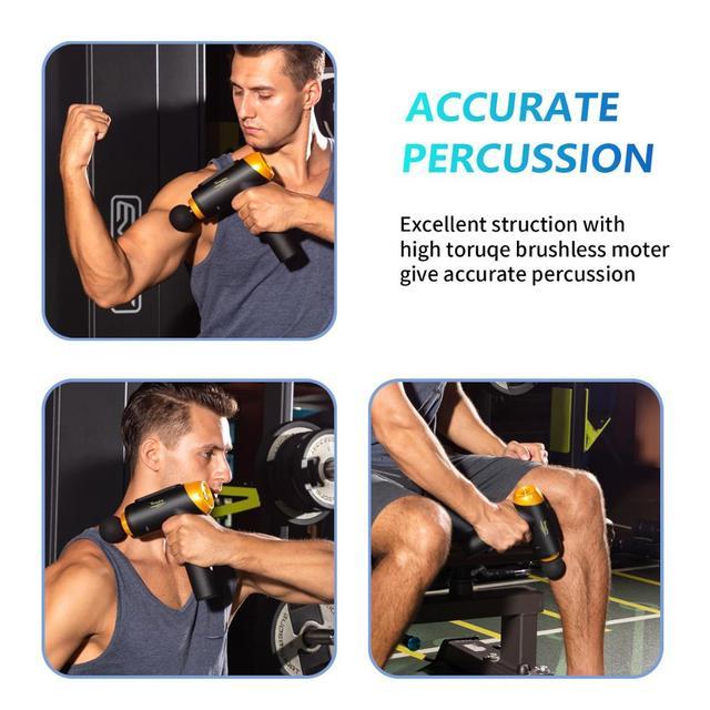 Massage Gun Muscle Relaxation Massager Vibration Fascial Gun Fitness Equipment Noise Reduction Design For Male Female 4