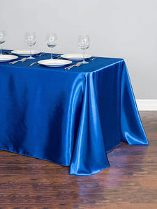 Table Topper Overlay Party-Decoration Festival Satin Hotel Wedding Banquet 1pcs