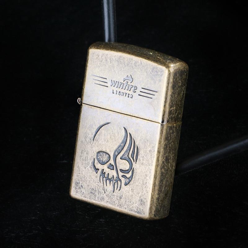 Metal Emboss Oil Lighter Flint Fire Kerosene Grinding Wheel Lighter Gasoline Refillable Cigarette Retro Gadgets For Men