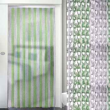 Aluminum chain insect fly screen curtain for door/window