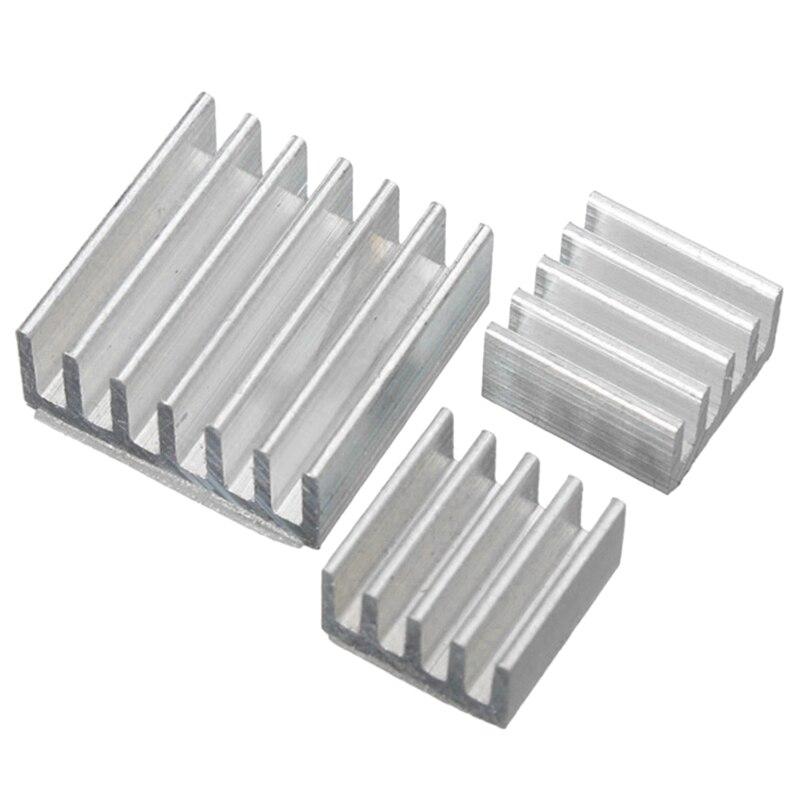 15 PCS One Set Aluminum Heatsink Cooler Adhesive Kit Sink For Cooling Raspberry Pi 4 Heatsink