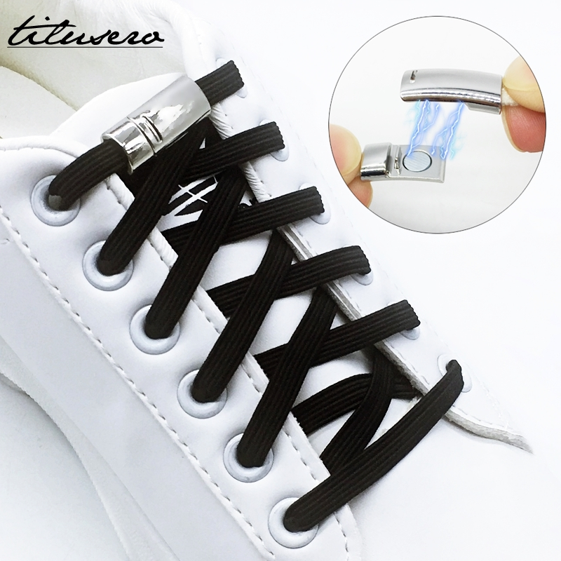 New Elastic No Tie Shoelaces Magnetic Lock Quick No Tie Shoe Laces Kids Adult Unisex Shoelace Sneakers Shoe Laces Strings F102