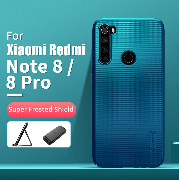 Phone Case For Xiaomi Redmi Note 8 NILLKIN Frosted PC Matte Hard Back Cover For Xiaomi Redmi Note 8 Pro Case Global Version