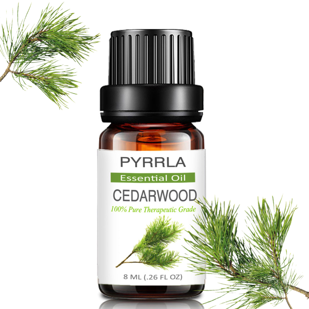 Pyrrla 10ml Cedar Pure Essential Oils For Aromatherapy Diffuser Relieve Stress Calmness Massage Fragrance Aroma Essential Oil