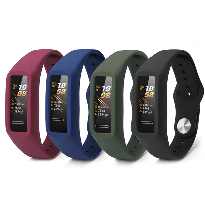 Silicone Strap For Huawei Band 4 Wrist Strap For Huawei Honor Band 5i Silicon Bracelet Soft Wristband Band 5 Band 4 Accessories