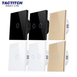 Светильник переключатель сенсорный выключатель стеклянная панель закаленное стандарт ЕС 1gang 2gang 3 110-240v прерыватель настенный светильник се...