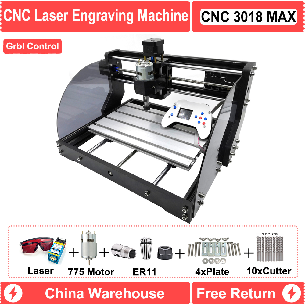 CNC 3018 PRO MAX Offline Controller DIY Mini GRBL CNC Laser Router Engraver With 5.5W 15W Module For PCB Paper PVC Wood