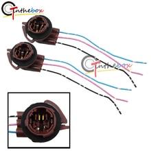 Wiring-Adapters Brake-Lights 3157 Turn-Signal Socket-Harness 2pcs Gtinthebox for 3156