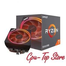 New amd ryzen 7 2700X cpu 3.7GHz Eight Core Sixteen Thread 105W TDP processador Socket AM4 Desktop with sealed box radiator fan
