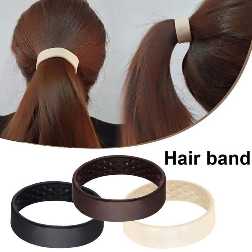 Silicone Foldable Stationarity Elastic Hair Rope Elastic Rubber Hair Ties Women Ponytail Holder Simple Multifunction Hair Tie