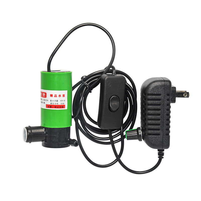 HYS Water Pomp 30W AC 220V Transformer DC 12V Submersible 12 V Volt Mini Water Pumps Adjustable With Pipe Water Drill Cutter