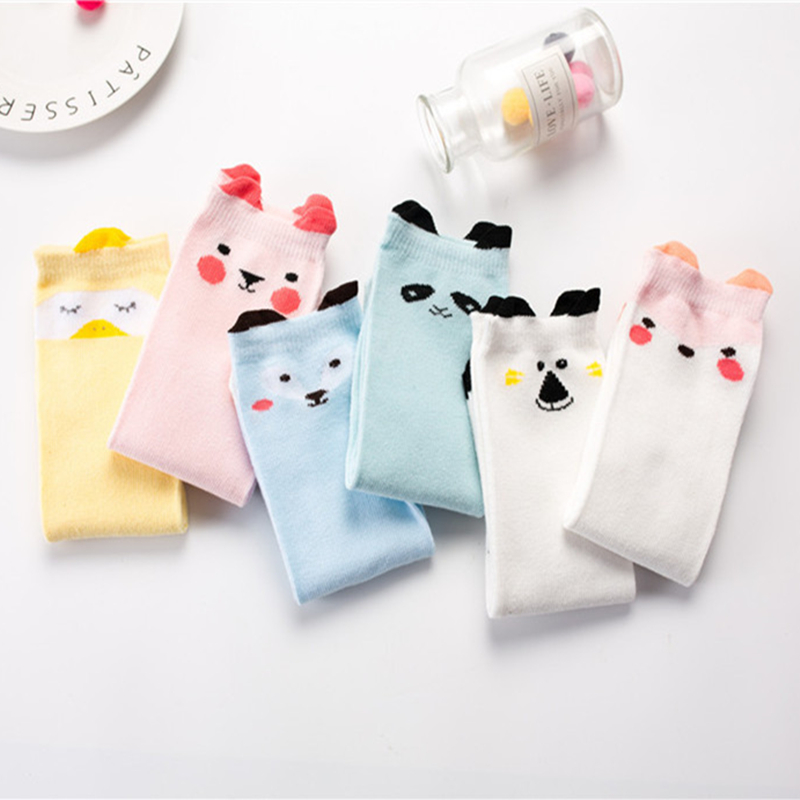6 Pairs Newborn Toddler Sock Baby Girl Boy Socks Cute Cartoon Meias Baby Clothing Cat Fox For Newborns Infant Warm Long Sokken