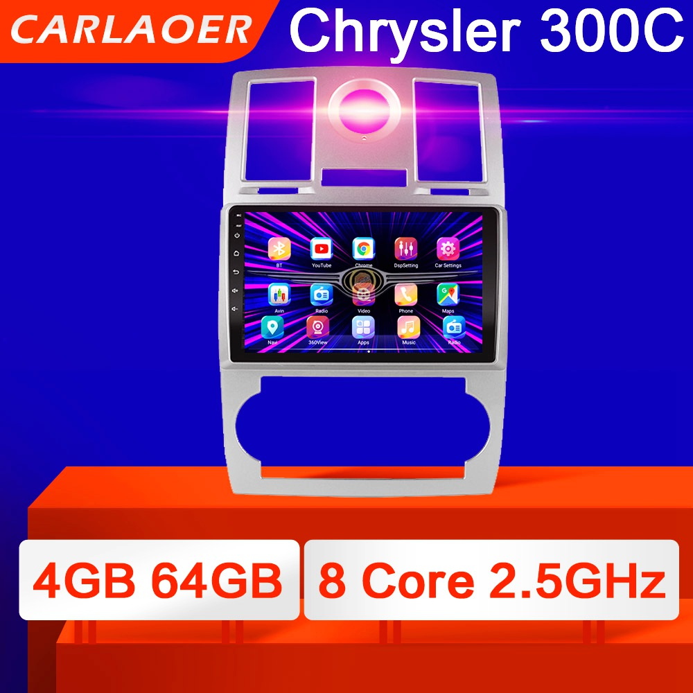 2 din rádio do carro 2din android autoradio multimídia player de áudio automático para chrysler aspen 300c 2004 2005 2006 2007 2008 gps wifi 4g