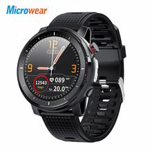 2020 nowy Microwear L15 inteligentny zegarek mężczyźni IP68 wodoodporny smartWatch ekg ciśnienia krwi PPG tętno sport fitness Smartwatch tanie tanio CN (pochodzenie) Brak Na nadgarstku Wszystko kompatybilny 128 MB Passometer Fitness tracker Wiadomość przypomnienie