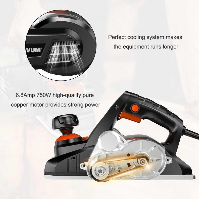 LOMVUM 750W, cortador de madera eléctrico para carpintero, 220V-240V, herramientas eléctricas con accesorios para pulir herramientas de carpintería
