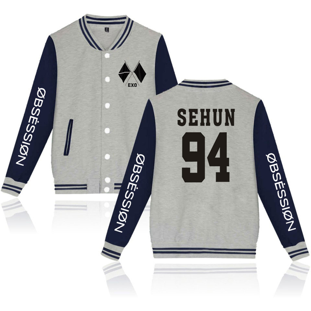 WE ARE ONE EXO OBSESSION BASEBALL JACKET (26 VARIAN)