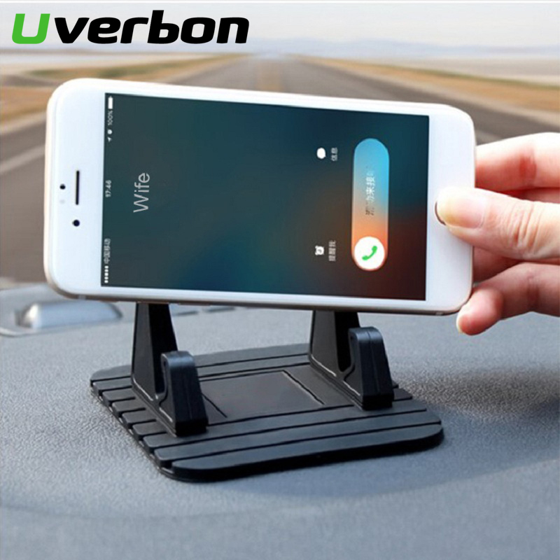 Car Dashboard Stand Pad Phone Stand Bracket Non-slip Rubber Mat Phone Mount Holder For Huawei iPhone Samsung Xiaomi Phone Holder