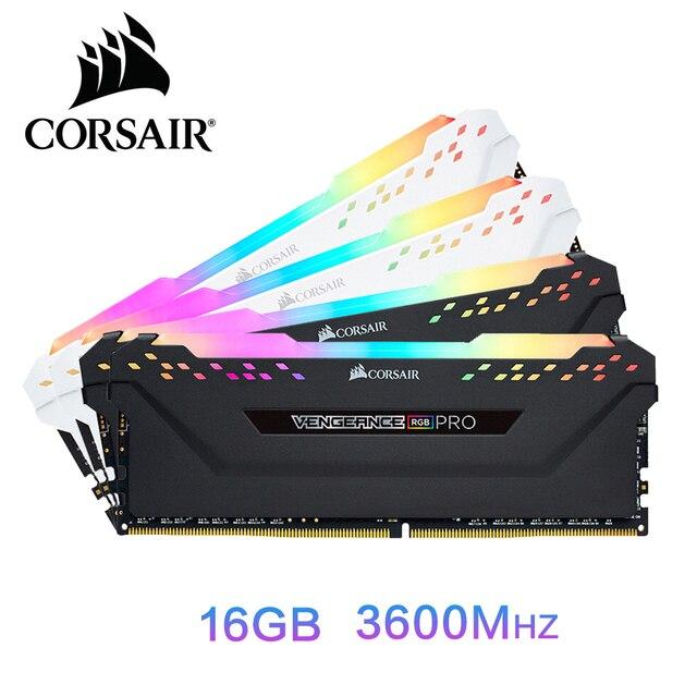 CORSAIR נקמה RGB פרו RAM 16GB DDR4 16GB 32GB זיכרון PC4 3000Mhz 3200Mhz 3600Mzh DIMM memoria מודול