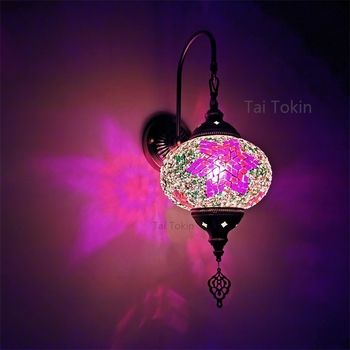 Big Size E14 Newest Mediterranean style Art Deco Turkish Mosaic Wall Lamp Handcrafted mosaic Glass romantic wall light