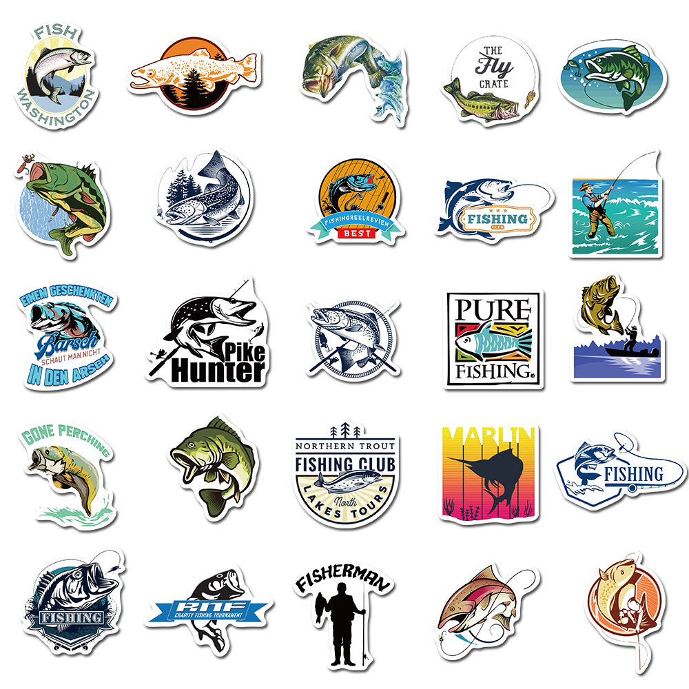 Hooked on Fishing Sticker Pack (50 piece) 5
