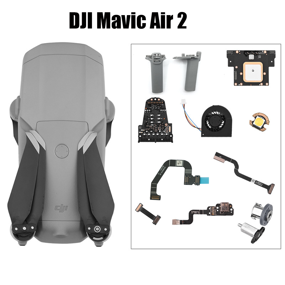 <font><b>DJI</b></font> <font><b>Mavic</b></font> <font><b>Air</b></font> 2 Fan Left Right Arm Landing Gear Rotating Axis ESC GPS <font><b>Board</b></font> Module 3N3 1WN Bottom Light Drone Repair Spare Parts image