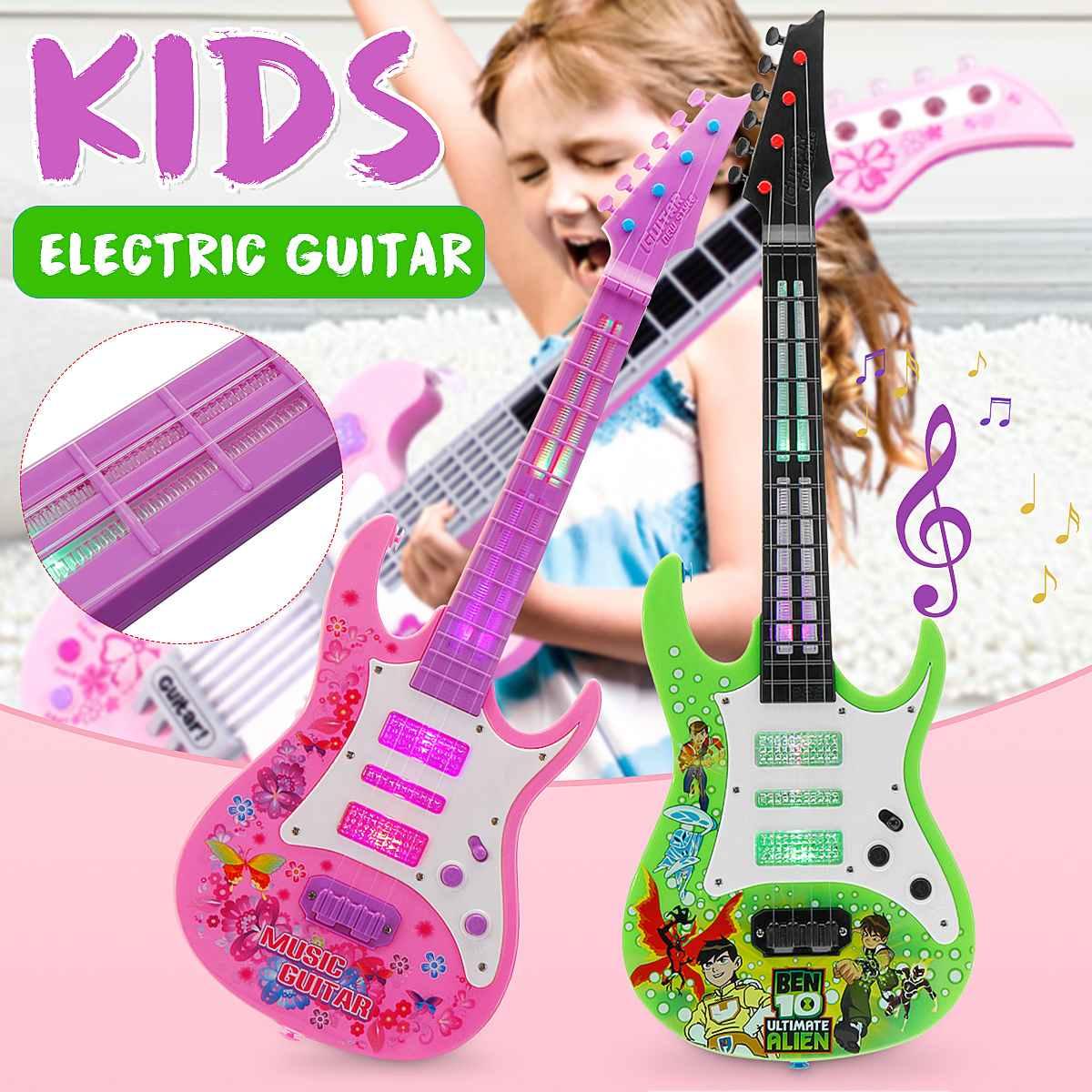 4 строки Музыка электрогитары Высокое качество детский саксофон музыкальные инструменты Развивающие игрушки для детей, подарок
