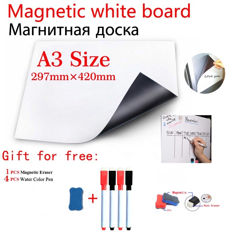 Magnetic Whiteboard Fridge Sticker School Student Supplies Stationery Office Information Message Board Dry Erase White Board