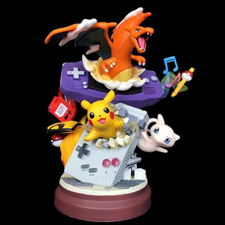Takara Tomy Anime Hars Standbeeld Gameboy Mewtwo Charizard Action Figure Dromerige Pokemon Speelgoed Collectie toys
