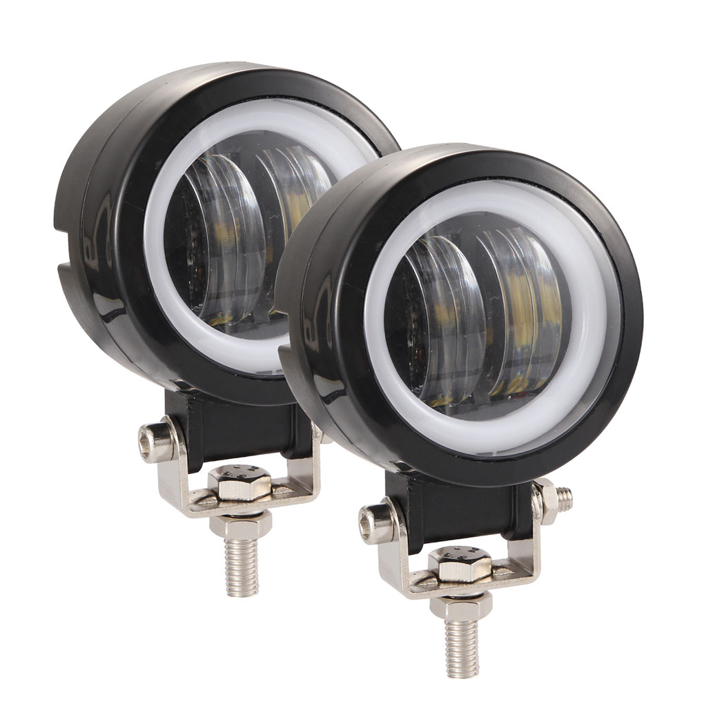 1 Pair Motorcycle LED Lamp 3 Inch 40W 6000K 8000LM Waterproof Round LED Work Light Off-road Vehicle Marine