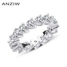 925 Sterling Silber Hochzeit Verlobung Full Enternity Ringe Jahrestag Herz Cut Ring Silber Frauen Braut Ring Schmuck