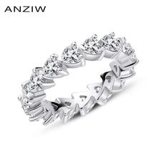 925 Sterling Silver Wedding Engagement Volledige Enternity Ringen Anniversary Hart Cut Ring Zilver Vrouwen Bridal Ring Sieraden