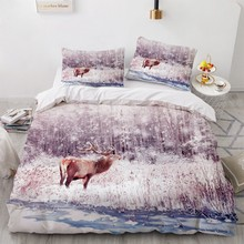 Bedding Sets 3D Blue White Duvet Quilt Cover Set Comforter Bed Linens Pillowcase King Queen Full