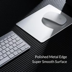 Image 2 - ORICO Metal  Aluminum Mouse Pad Hard Smooth Slim Computer Gaming Mousepad Double Side Waterproof for Home Office Desk Mat