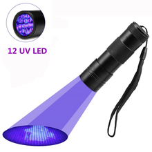 12 LED Flashlights UV Lilght Torch High powerful Flashlight Battery Torchlight hand Ultraviolet Urine Detector Dog Cat Pet Stain 8in1 cat stain and odor exterminator nm jfc s