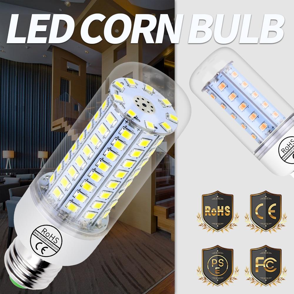 Bombilla Led E27 Luz Fria Led E14 Candle Bulb 220V 30 36 48 56 69leds Lampada 240V Energy Saving Light Chandelier Lighting 2835