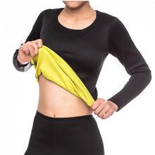 Для женщин похудение сауна костюм Горячая Пот Блузка Футболка