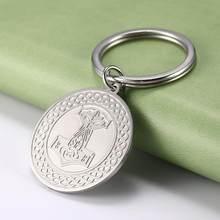 Teamer – porte-clé à breloque rond en acier inoxydable, marteau Thor, amulette Talisman à nœud irlandais Viking, pendentif pour sac cadeau