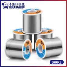 Núcleo HX-T100 do rosin do mecânico 500 63% g 37%/183 sn/pb point ponto de derretimento 0.5mm-1.2mm fio de solda fluxo de solda 1.0-3.0% carretel de cabo de ferro