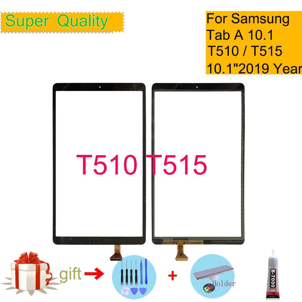 Для Samsung Galaxy Tab A 10,1 2019 SM-T515 SM-T510 T510 T515 сенсорный экран с цифровым преобразователем для планшета защитное внешнее Переднее стекло для ЖК-диспле...