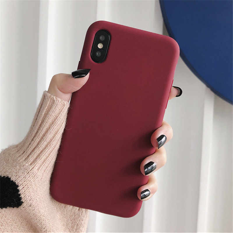 Color sólido delgado para iphone 11 pro funda pareja trasera suave funda de silicona para iphone 11 Pro XS Max XR X 7 8 6 6s Plus funda