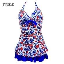 TYAKKVE Push Up Bikinis 2019 Tankini Swimsuits Dress Vintage Plus Size Swimwear Women Monokini Female Halter Bathing suits Skirt