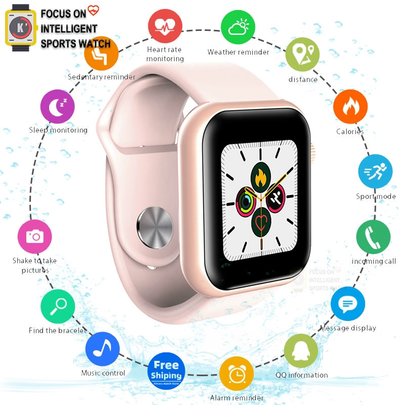 Apple Smart Watch Men Women Blood Pressure Smartwatch Watch Waterproof Heart Rate Tracker Sport Clock Watch Smart ForAndroid IOS