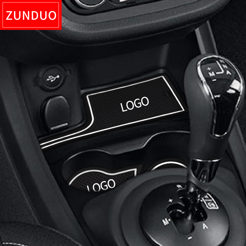 ZUNDUO Anti-Slip Gate Slot Cup Mat For Lada Vesta 2015 ~ 2019 Rubber Coaster Accessories 6Pcs Cup Cushion Car Styling Stickers