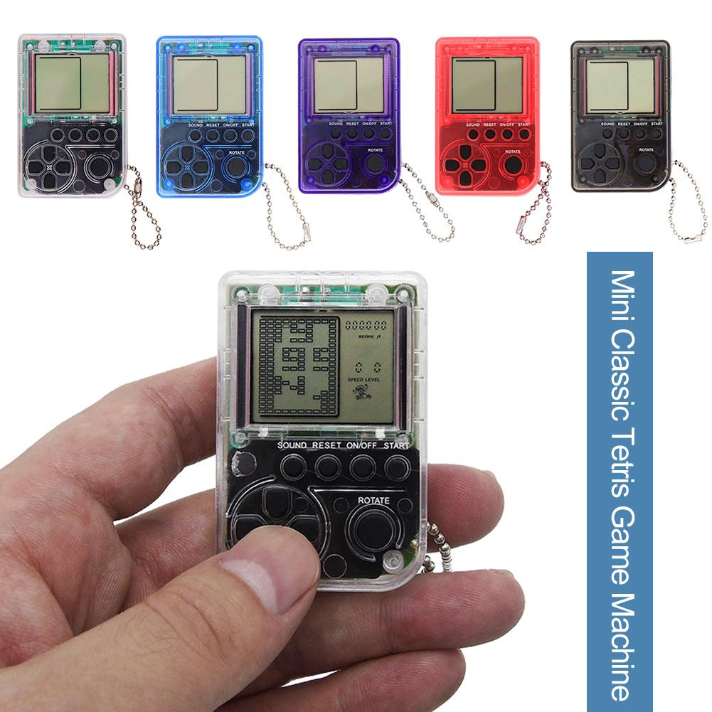 Mini Keychain Pendant Classic Game Machine Children's Handheld Retro Nostalgic Mini Game Console With Keychain Tetris Video Game