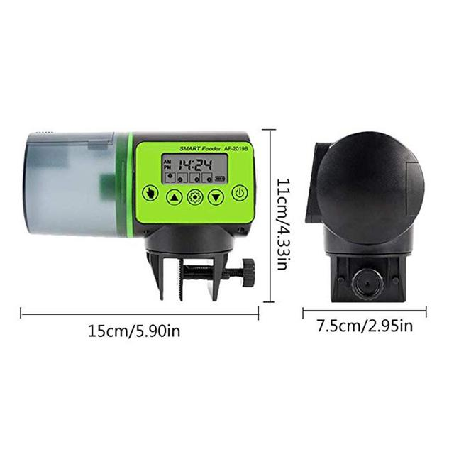 Smart Automatic Fish Feeder Aquarium Digital Fish Tank Electrical Plastic Timer Feeder Food Feeding Portable Fish Feeding Tool