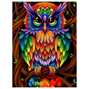 Owl Diamond Painting Full Square Embroidery Animals Picture Home Decoration Cartoon Mosaic Painting Rhinestone Decorations