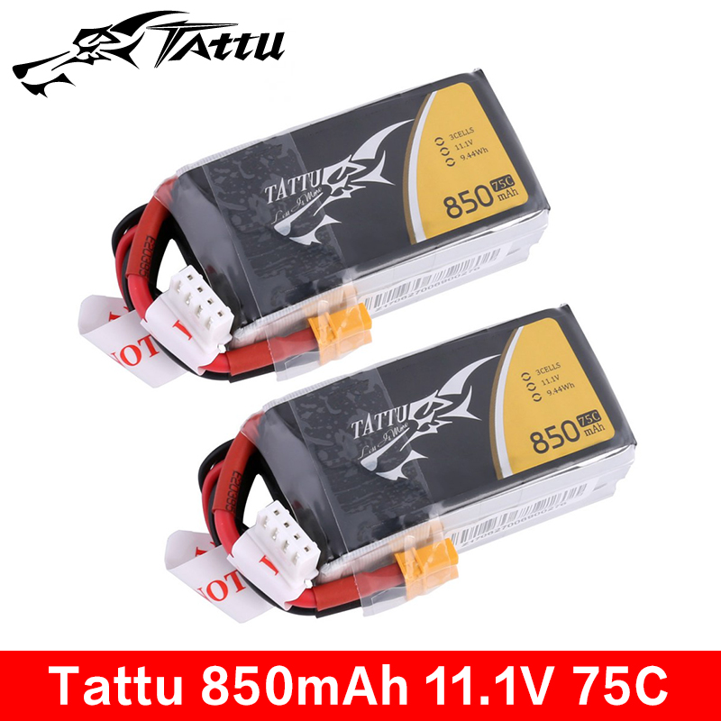 Tattu 850mAh 11.1V 75C 3S1P Lipo Battery Pack With Industry-standard XT30 Plug For 150 Size