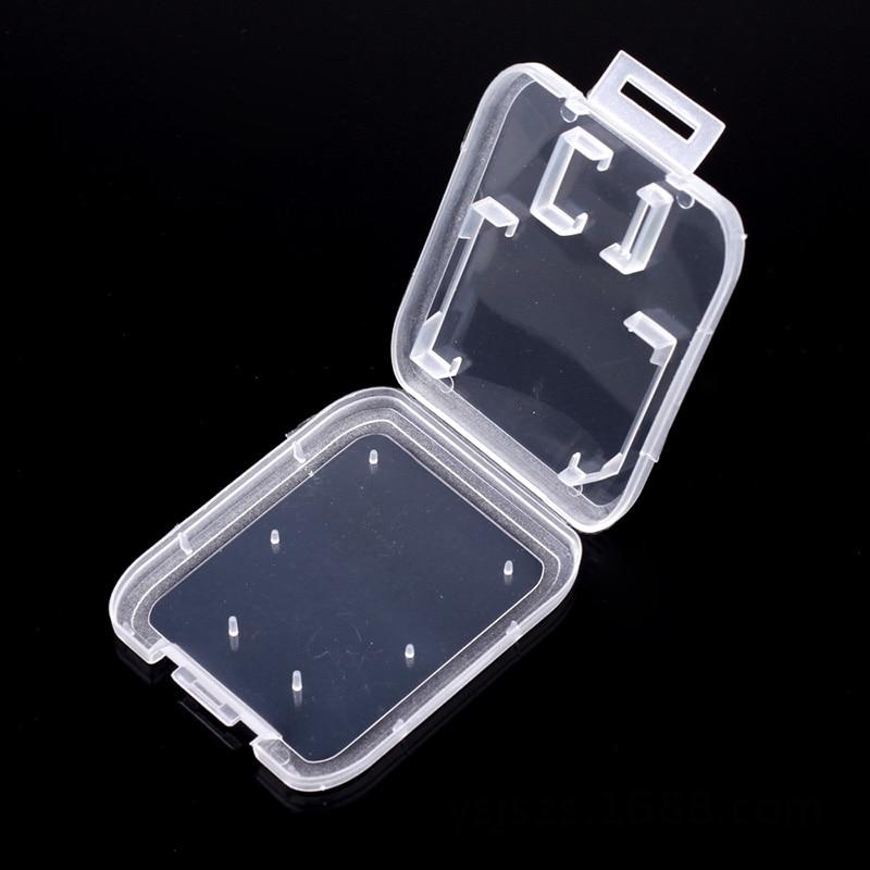 Caso Do Cartão de Memória SD TD Protetor Titular Casos de Cartão de Memória Caixa De Armazenamento De Plástico Transparente