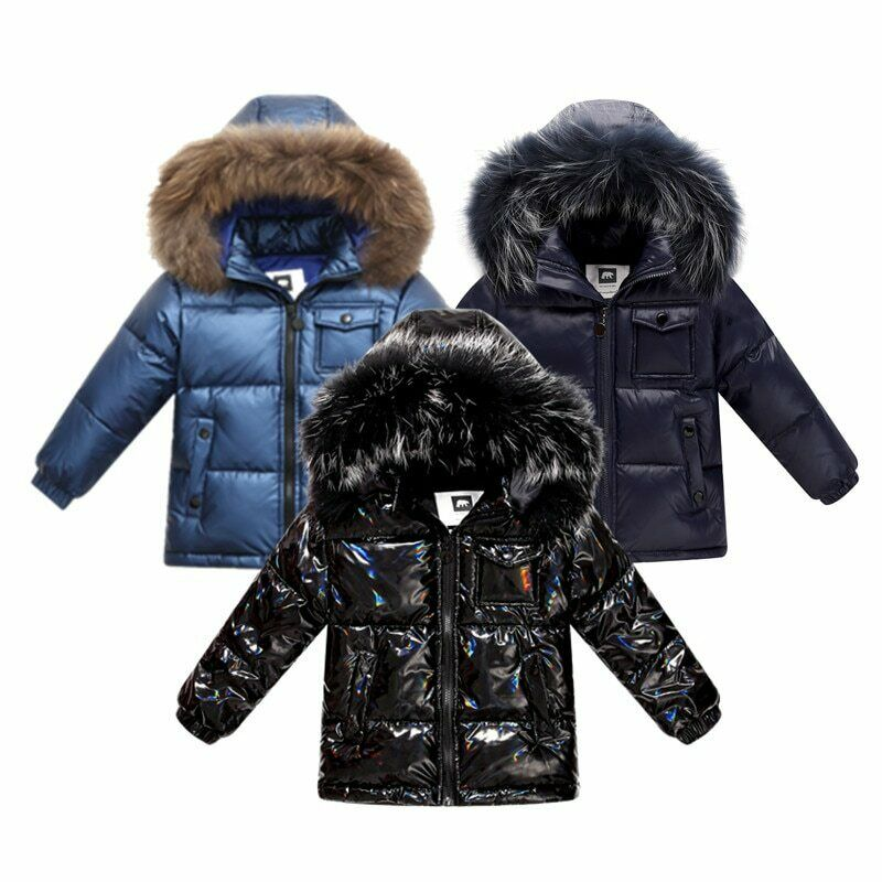 winter down jacket for boys 2-8 years children's clothing thicken